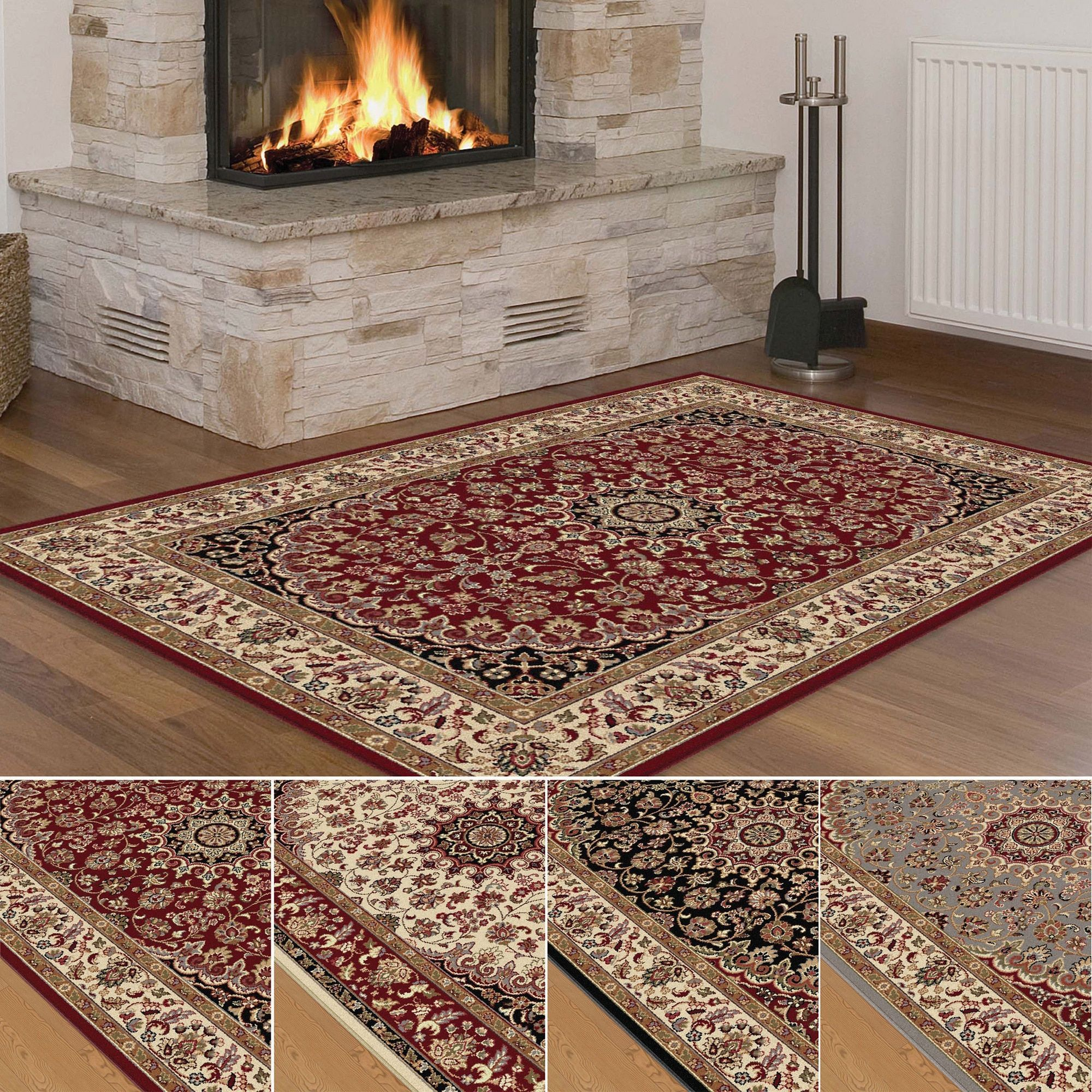 Alise rhythm transitional area rug u x u red size u x