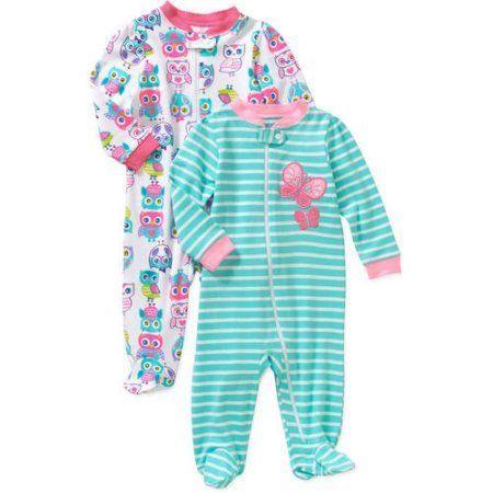 cd0c440838192 Garanimals Newborn Baby Girls' Cotton Sleep n' Plays, 2-Pack, Newborn  Girl's, Size: 0 - 3 Months, Yellow