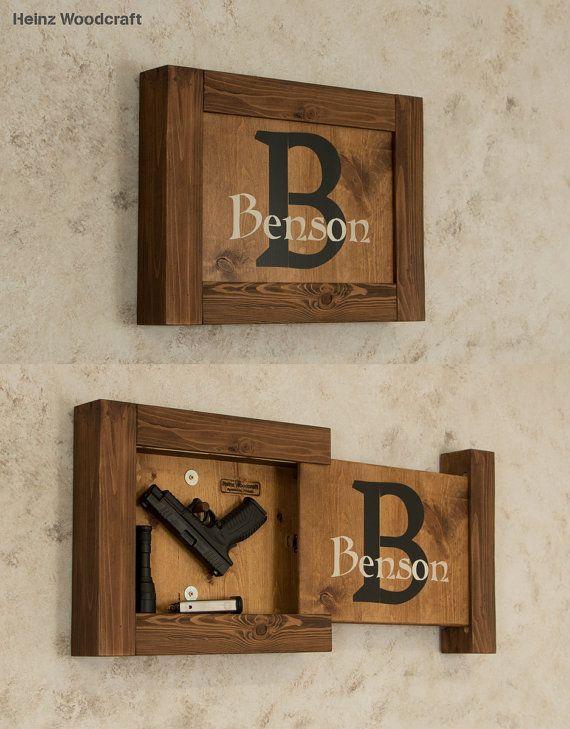 solid pine concealed storage gun storage hidden by. Black Bedroom Furniture Sets. Home Design Ideas