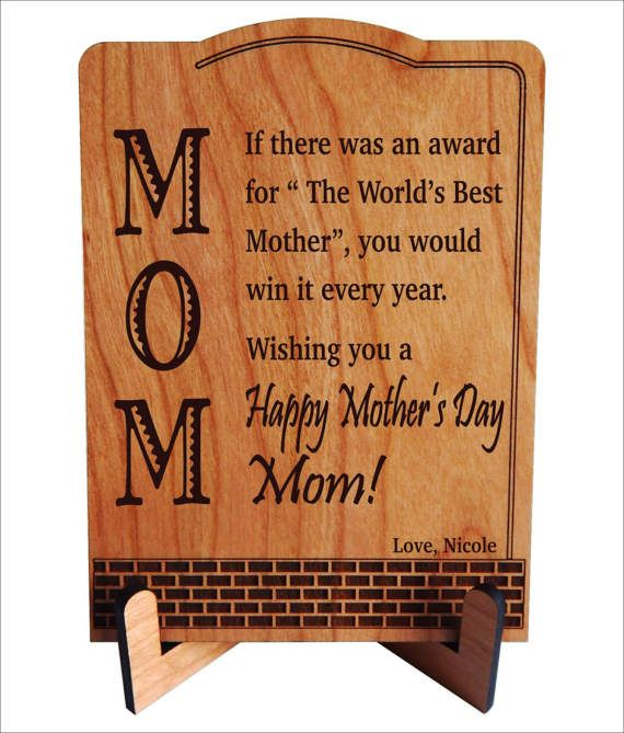 Mothers Day Gift for Mom - Birthday Gifts - Appreciation Plaque from