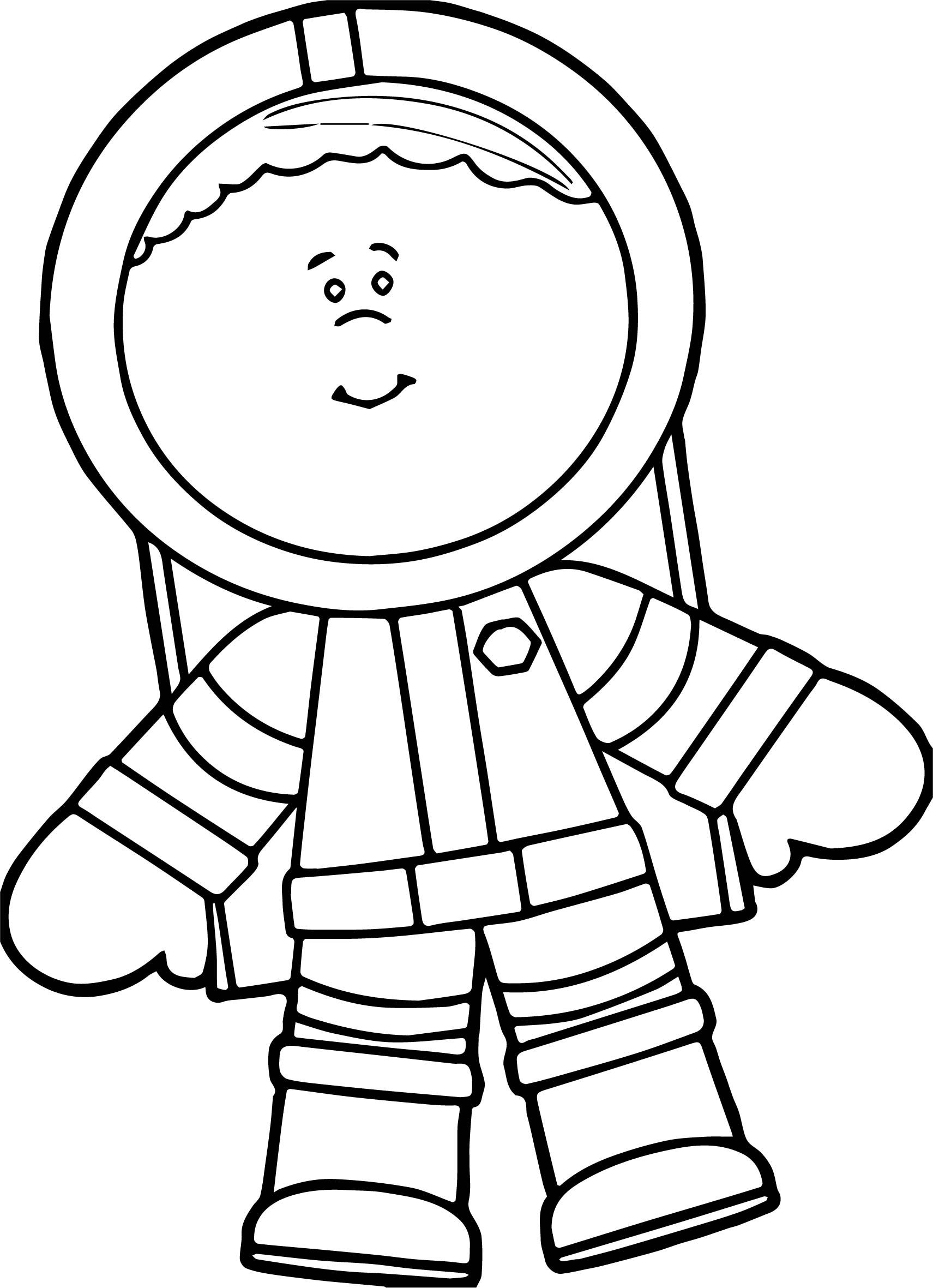 Cool Cute Astronaut Boy Coloring Page