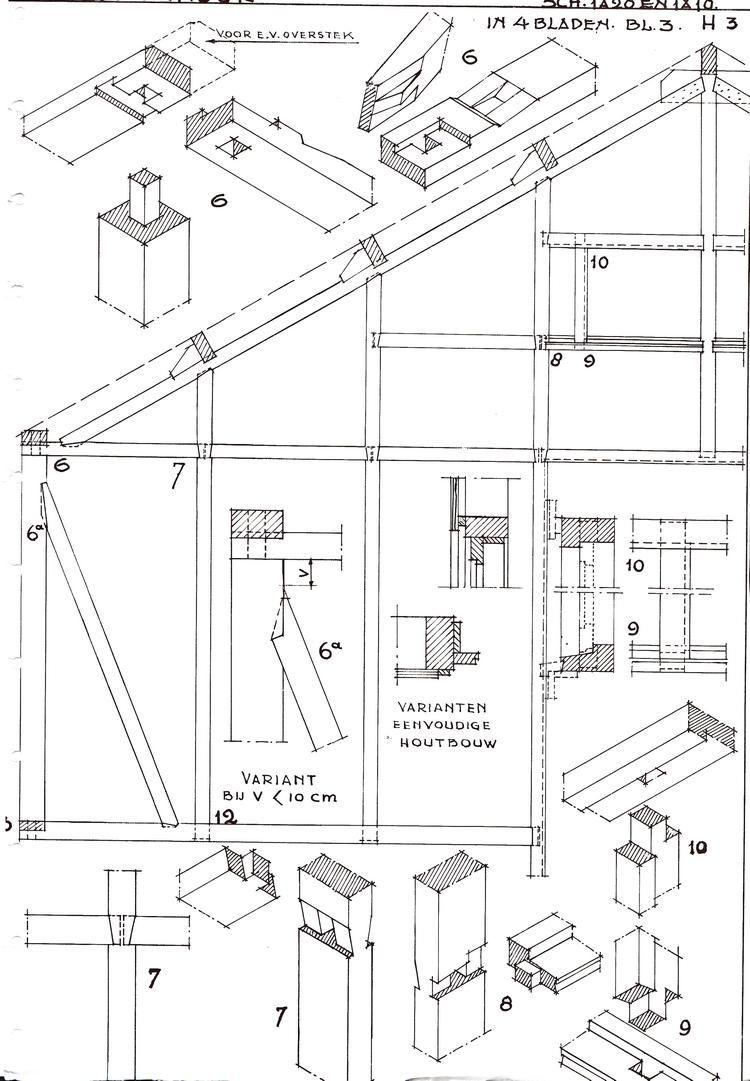 houtskeletbouw  bouwkundig detailleren - details bouwkunde