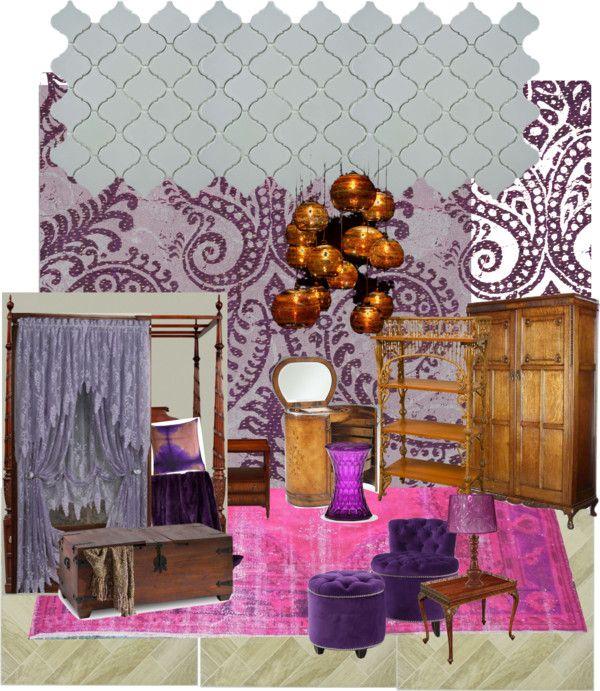 Purple Boho Bedroom By Melindabragg On Polyvore