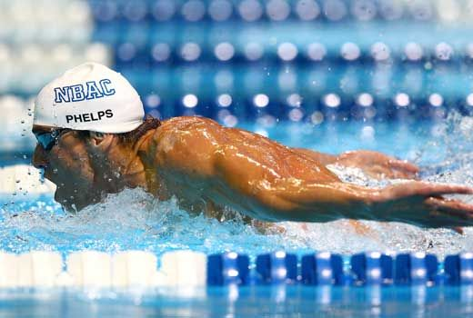 Michael Phelps posts best time in the world in 2012 in 200 Butterfly at Olympic trials