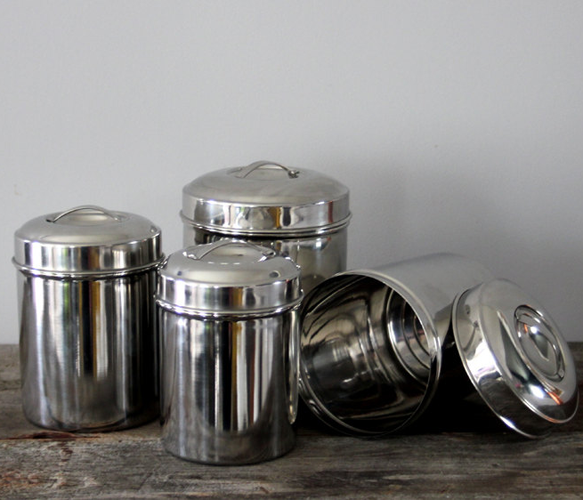Tin Kitchen Canisters