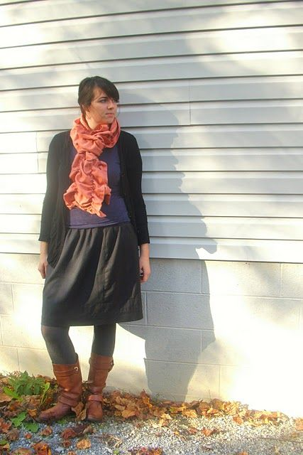 how to make a ruffle scarf out of fabric
