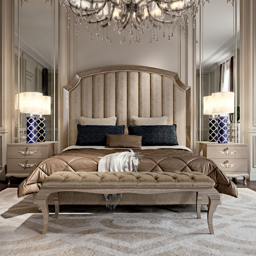 High End Italian Upholstered Storage Bed Bed linens