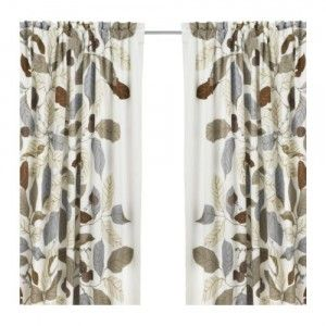 Ikea Leaf Curtains | My Beef With Ikea Curtains Is That, Out Of Convenience,
