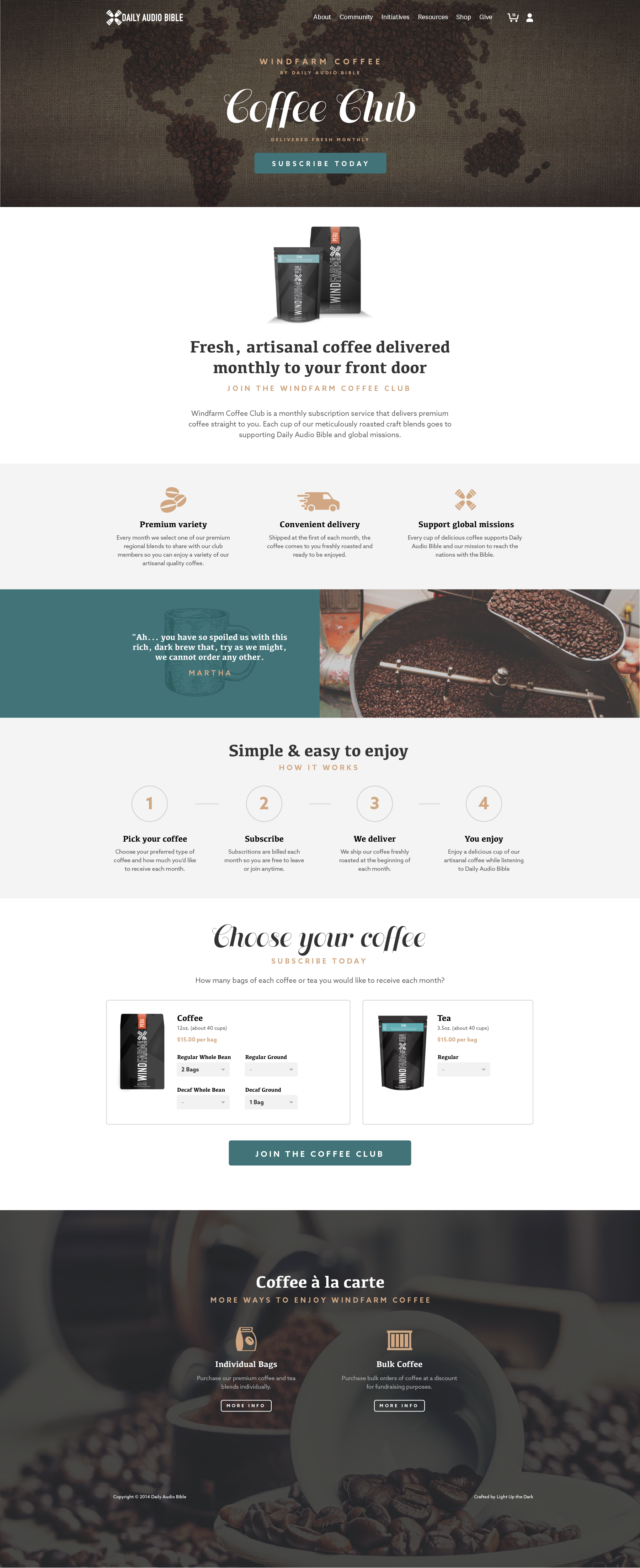 This Is A Mockup Our Kansas City Web Design Agency Did For A Nonprofit Who Started A Coffee Subscription Serv Web Design Tips Web Design Web Development Design