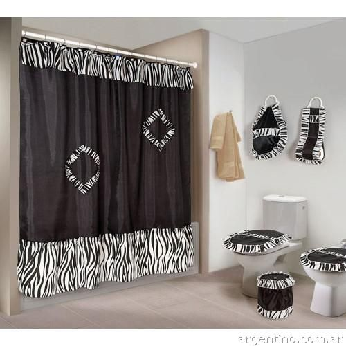 845980 cortina linea animal print para bano art 1608 for Cortinas de bano modernas