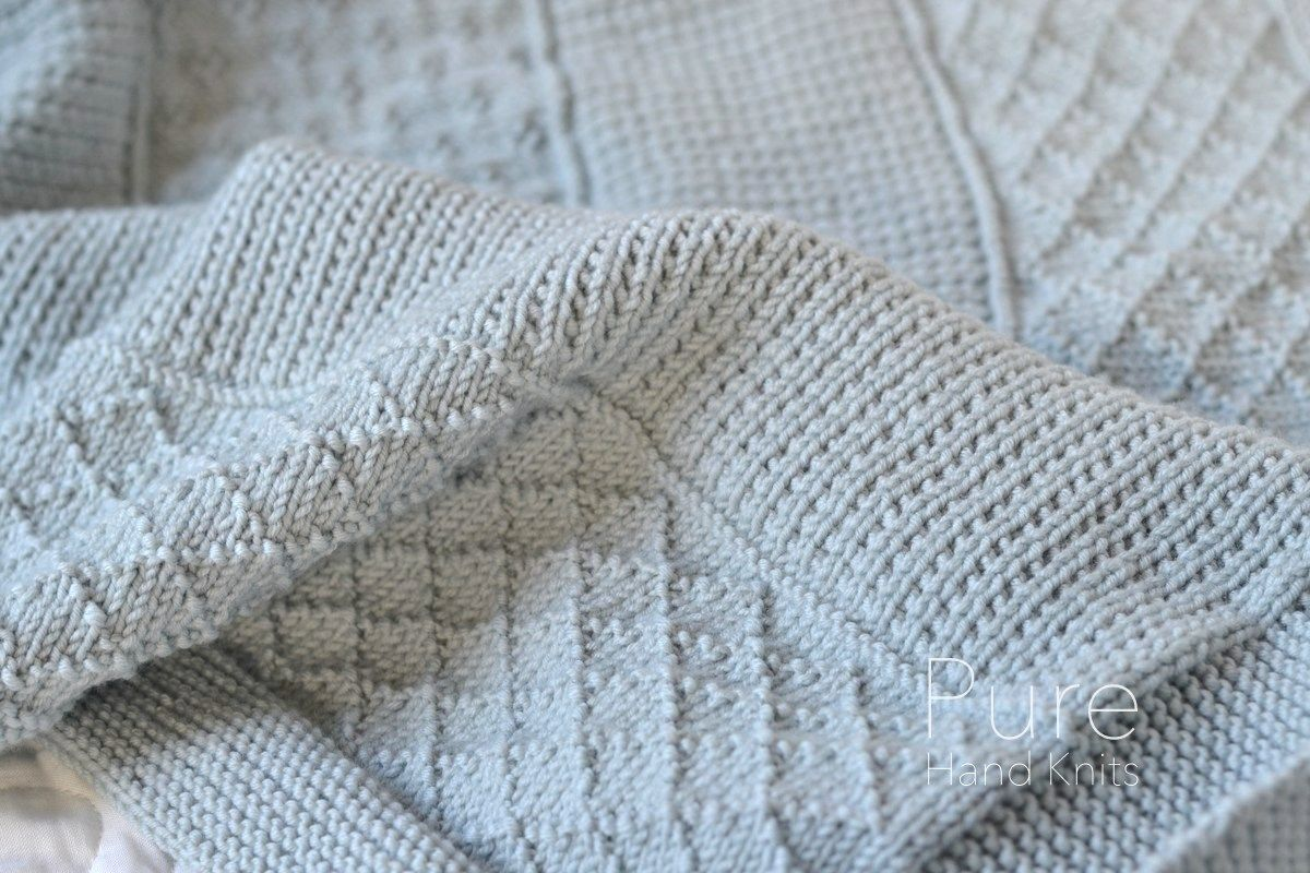 Blanket Knitting Pattern. A simple textured blanket that\'s perfect ...