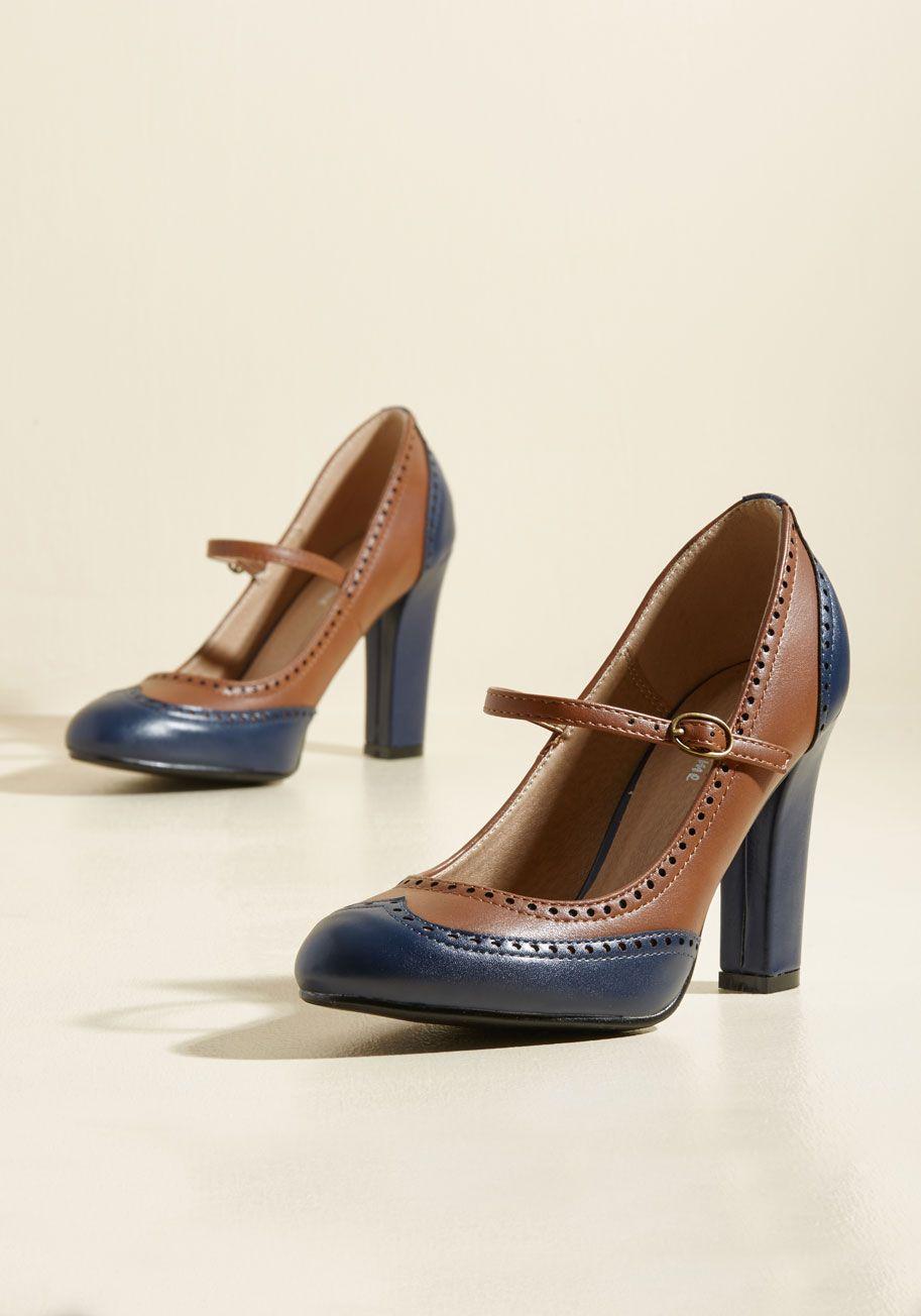 b.a.i.t. footwear double trouble flat in navy | oxford heels