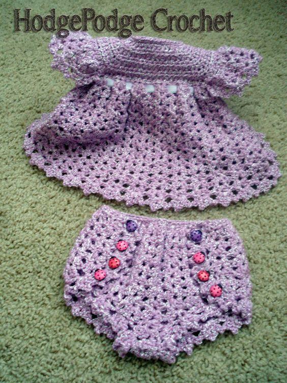 Vintage Dress & Diaper Cover | Bebé, Ganchillo y Vestidos tejidos