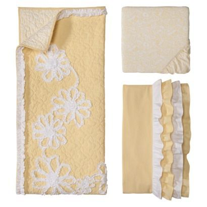 Castle Hill Yellow Ruche Baby Collection