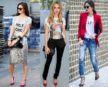Te enseñamos cómo darle un giro súper stylish a tu t-shirt básica.