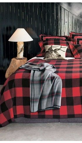 red black check lumberman blanket collection pendleton sleep pinterest home bedroom. Black Bedroom Furniture Sets. Home Design Ideas