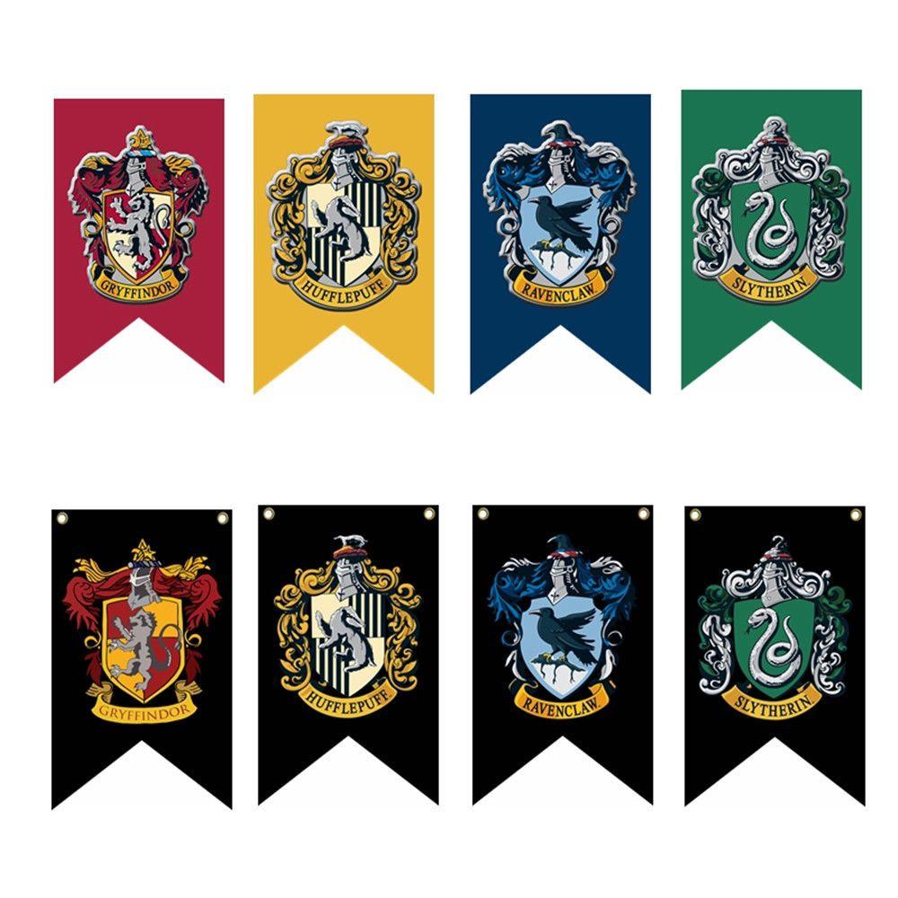 Harry Potter Hogwarts House Banner Flag Wall Hanging Drape Gryffindor Slytherin Harry Potter Banner Harry Potter Drawings Harry Potter Birthday