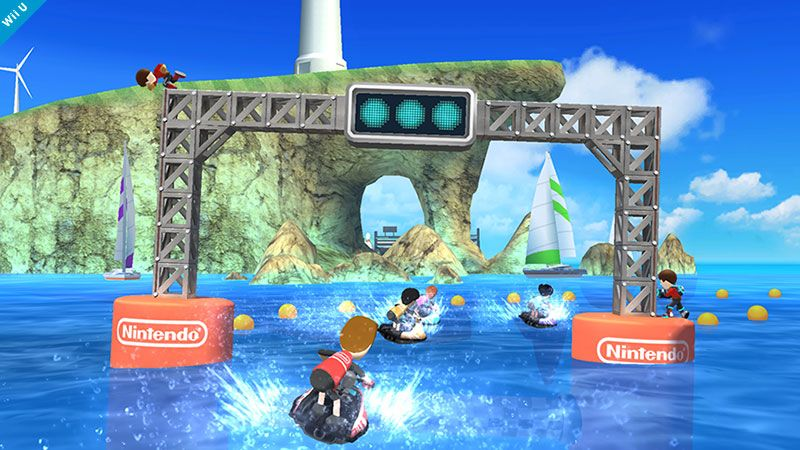 Wuhu Island stage from Wii Sports Resort – Super Smash Bros