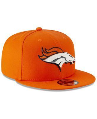 eee90595 New Era Denver Broncos Metal Thread 9FIFTY Snapback Cap - Orange Adjustable