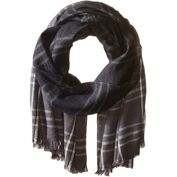 Michael Stars Take A Dip Blanket Wrap (Oxide) ($64) ❤ liked on Polyvore featuring accessories, scarves, tartan scarves, michael stars scarves, ombre scarves, plaid wraps shawls and viscose scarves
