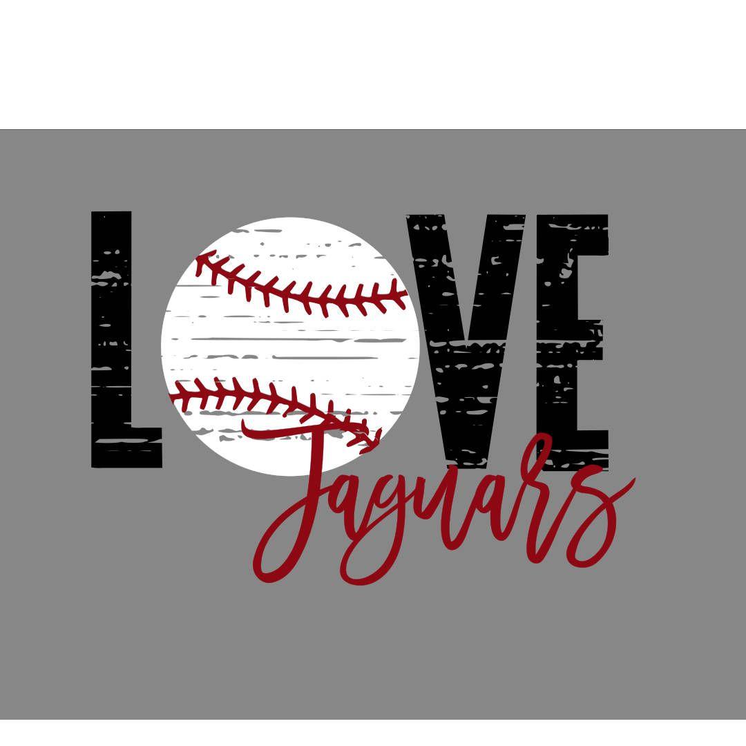 Download Love Jaguars Distressed Baseball SVG   Custom design, This ...