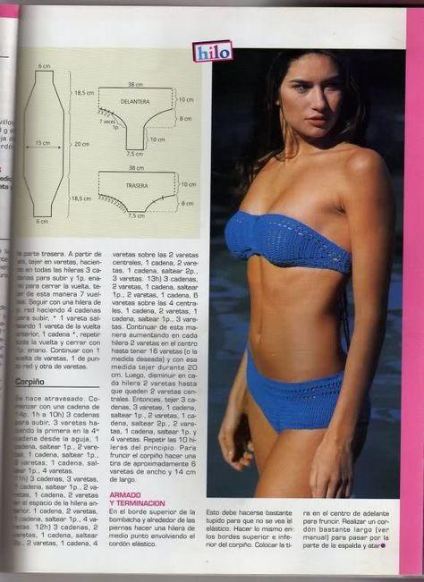 patrones de bikinis/bañadores mujer a crochet