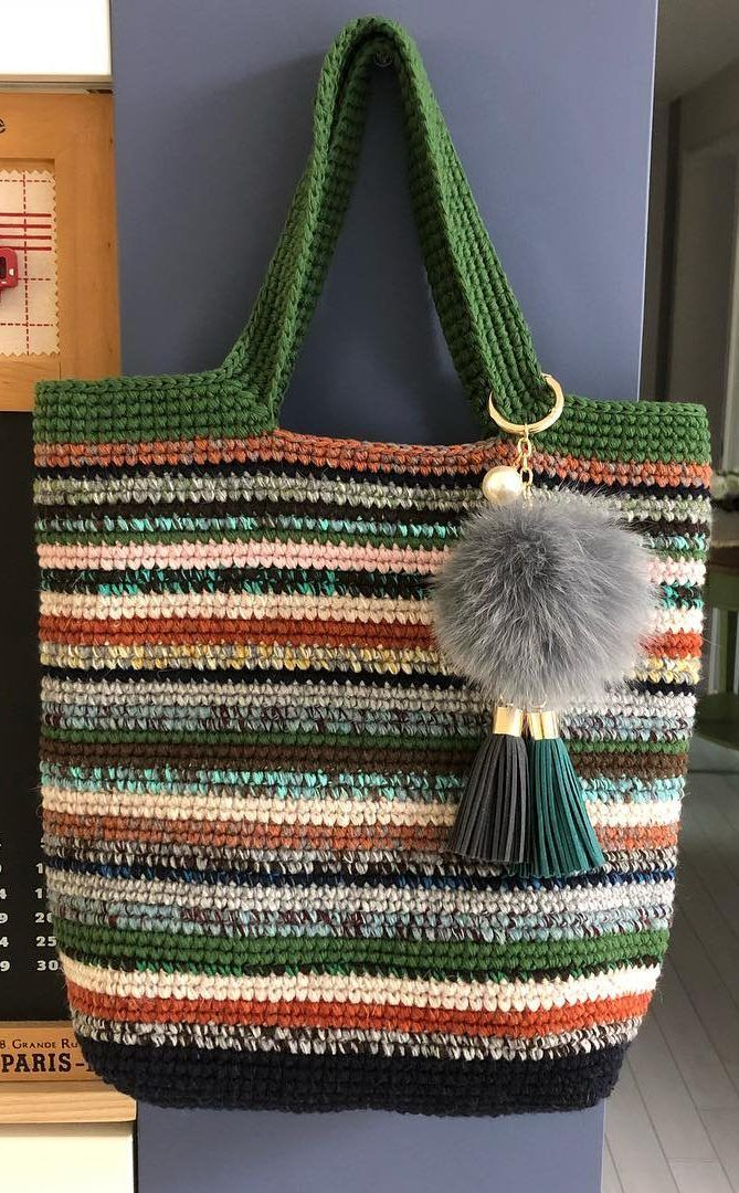 40+ Free Crochet Bag Patterns and Hand Bags 2019 - Page 5 of 39 #bagpatterns