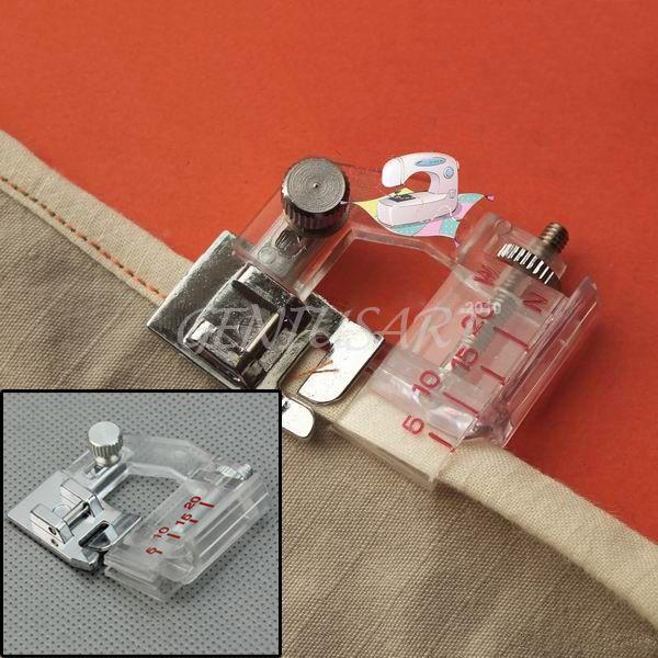 Attaching Binding Snap-on Adjustable Bias Binder Presser