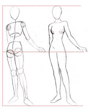 How To Draw Female Anime Character Figure Drawing Tutorial Figure Drawing Female Human Figure Sketches