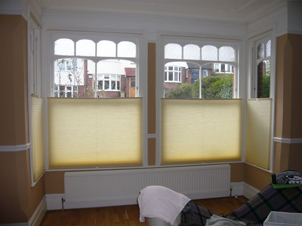 Bottom Up Top Down Luxaflex duette blinds fitted in North London
