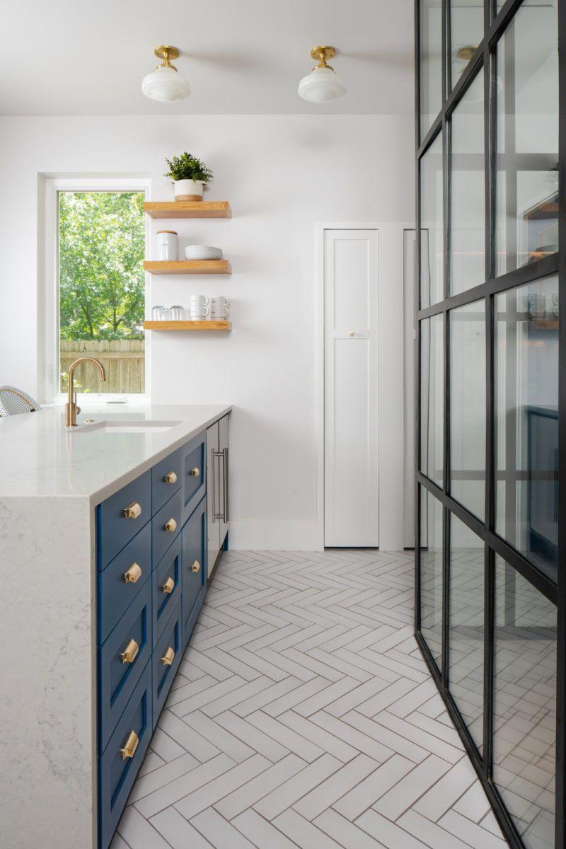 White Patterned Non Slip Floor Tiles for Kitchen   White ...