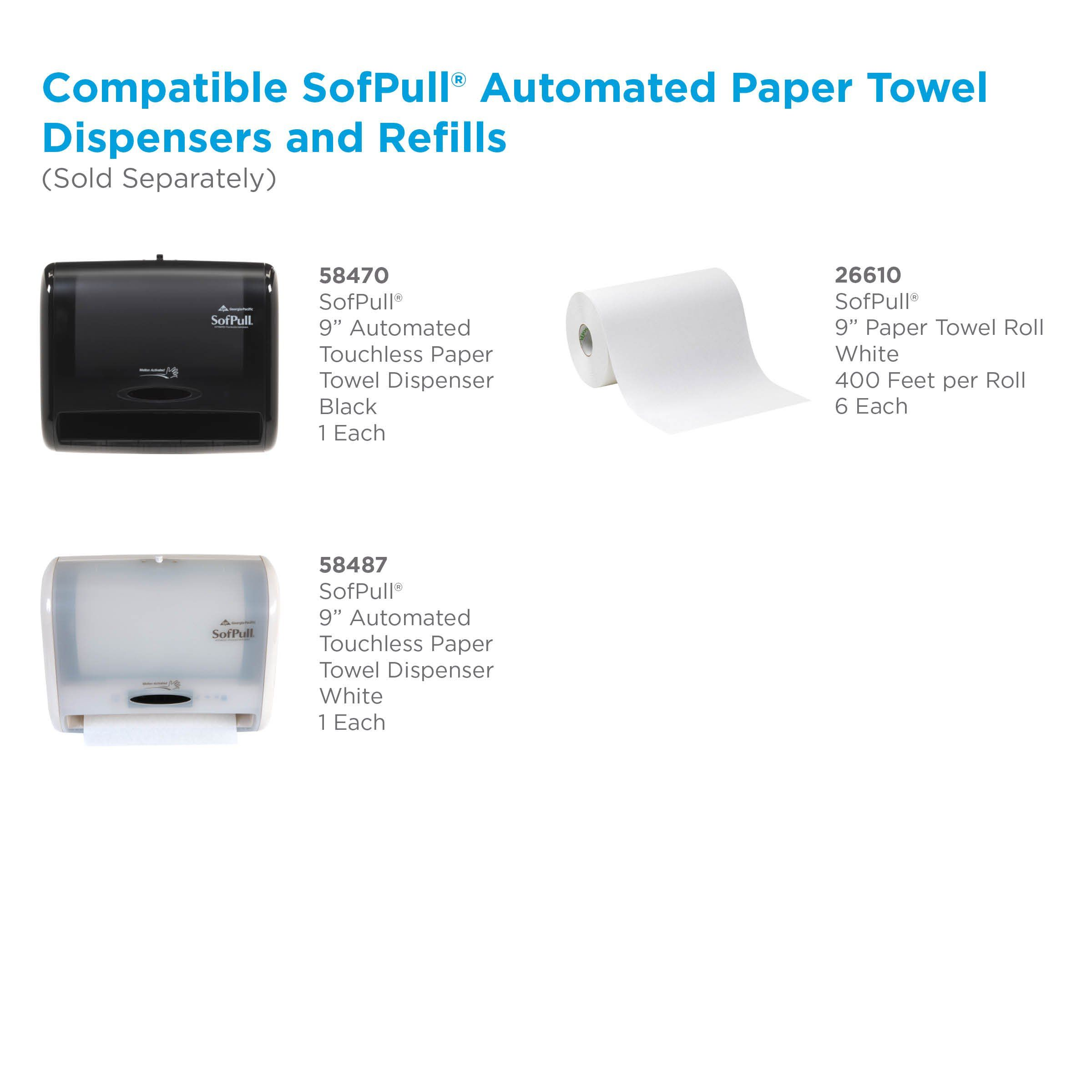 Sofpull 9a Automated Touchless Paper Towel Dispenser By Gp Pro Black 58470 12 800a W X In 2020 Kitchen Storage Organization Paper Towel Dispensers Towel Dispenser