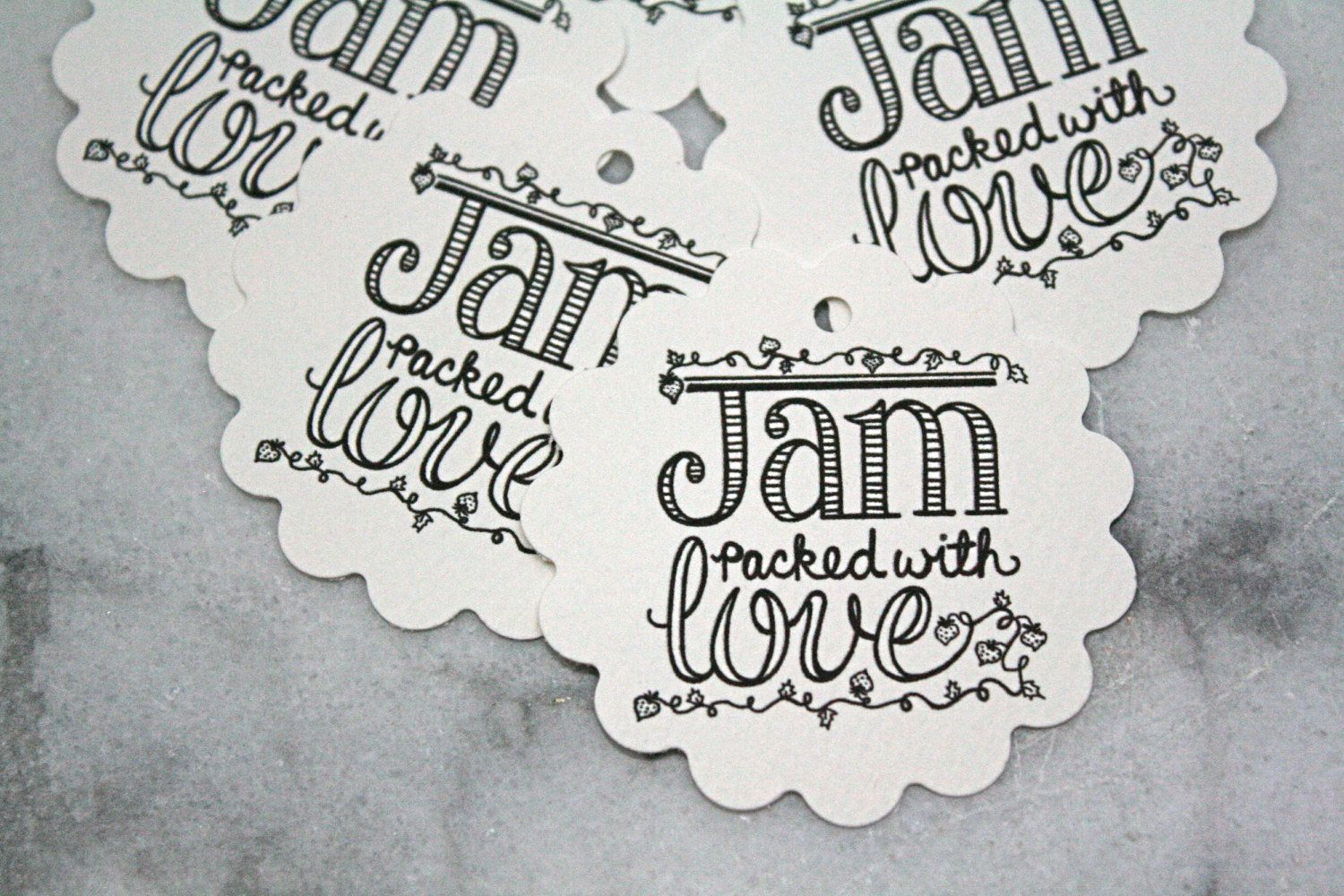 Wedding favor tags, canning tags, 50. Jam Packed with Love design ...