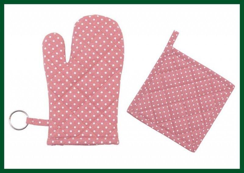 topflappen + ofenhandschuh punkte 2er set rosa kinder ... - Deko Fur Kinderzimmer Punkten