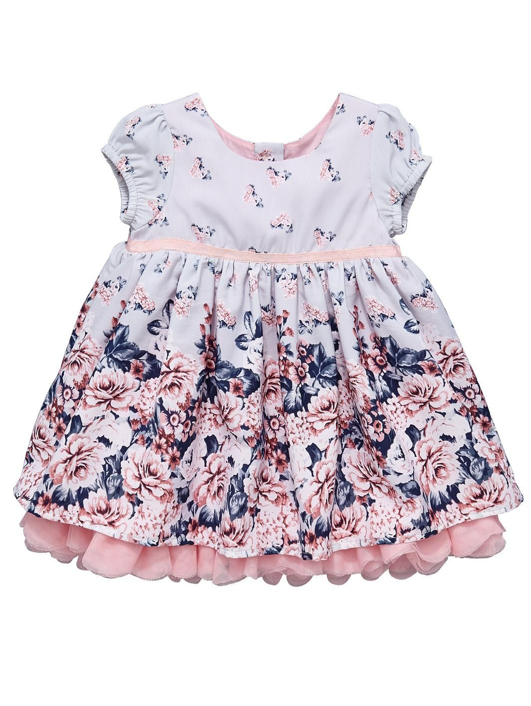 f27b6974fbf6 Baby Girls Border Print Dress