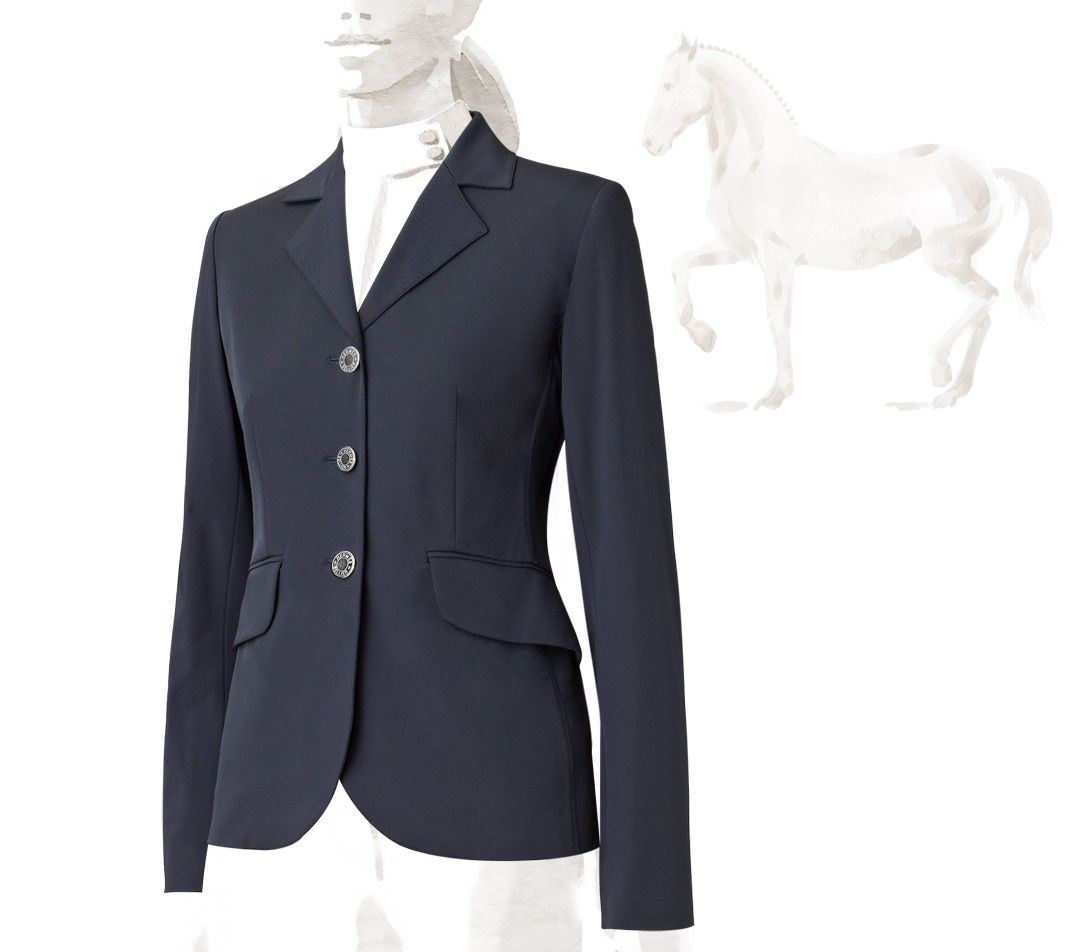 Damen-Reitbekleidung Jack Murphy Alex Wax Jacket Womens Blue Equestrian Horse Riding Coat Outerwear
