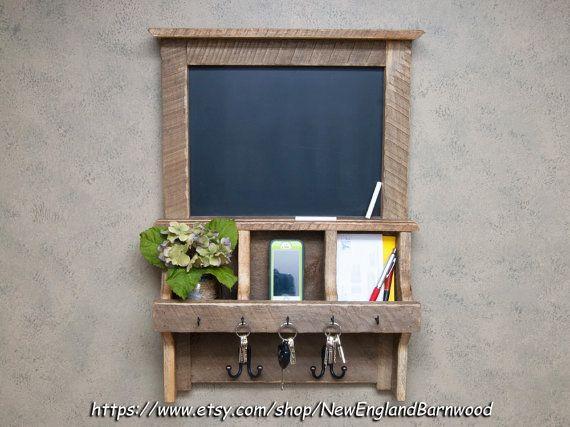 Rustic Chalkboard Mail Organizer Chalkboard Organizer Rustic