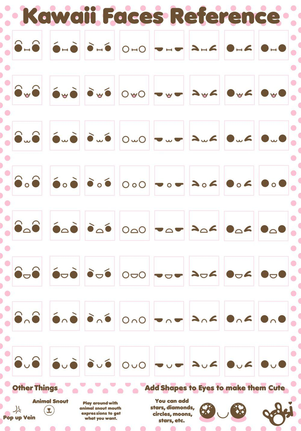 Kawaii Faces Reference By Sugarlette How To Draw