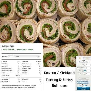 Costco/kirkland turkey swiss roll ups! Tortillas, turkey
