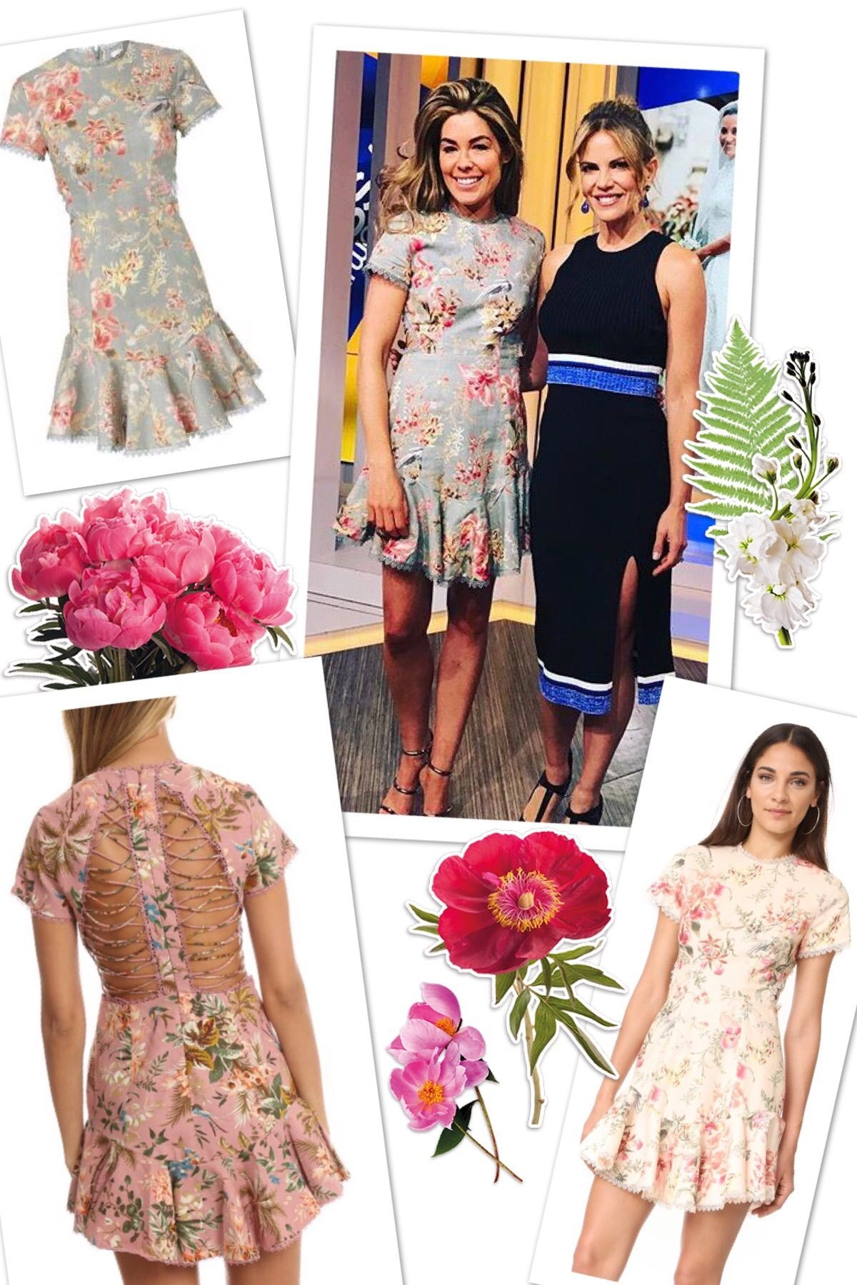 The dress access - Sophie Stanbury S Blue Floral Dress On Access Hollywood Has The Most Amazing Back Details