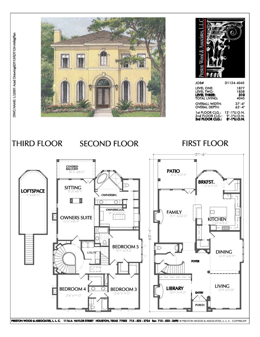 Two Story Home Plan D1124   My Wishlist   Two story house