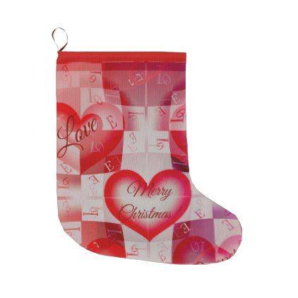 Trending design Christmas gift Large Christmas Stocking - merry