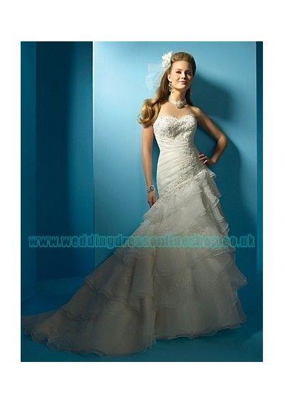 Wedding dress online shop - organza strapless sweetheart neckline ...