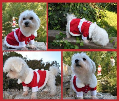 free dog christmas dress pattern in different sizes