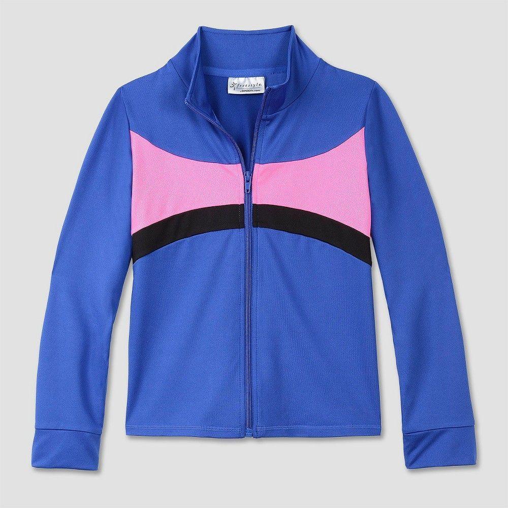 762458ed6e Girls Freestyle By Danskin Activewear Track Jackets - Blue XS ...