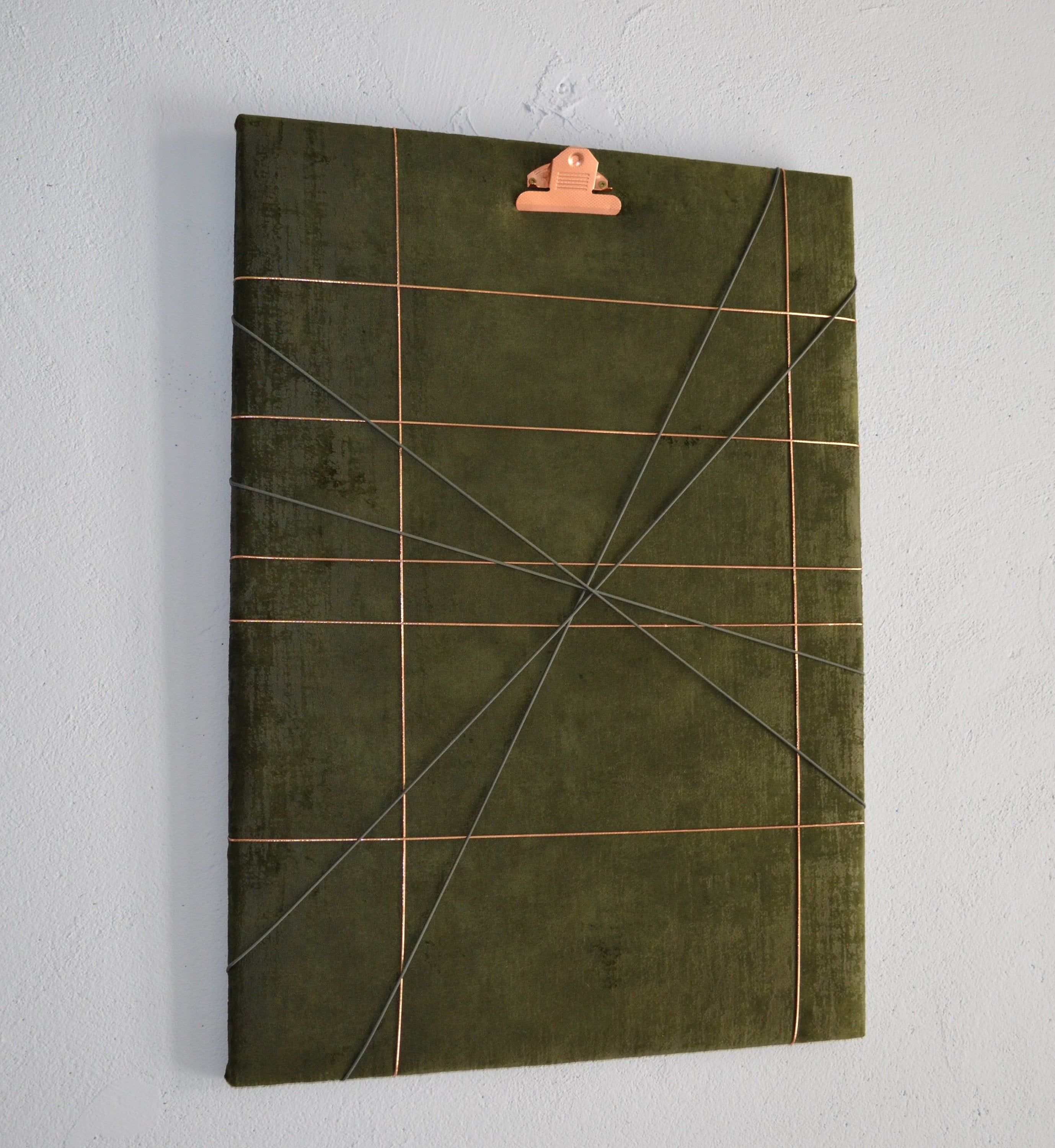 Memoboard - Home Office / Velvet - Dark Green