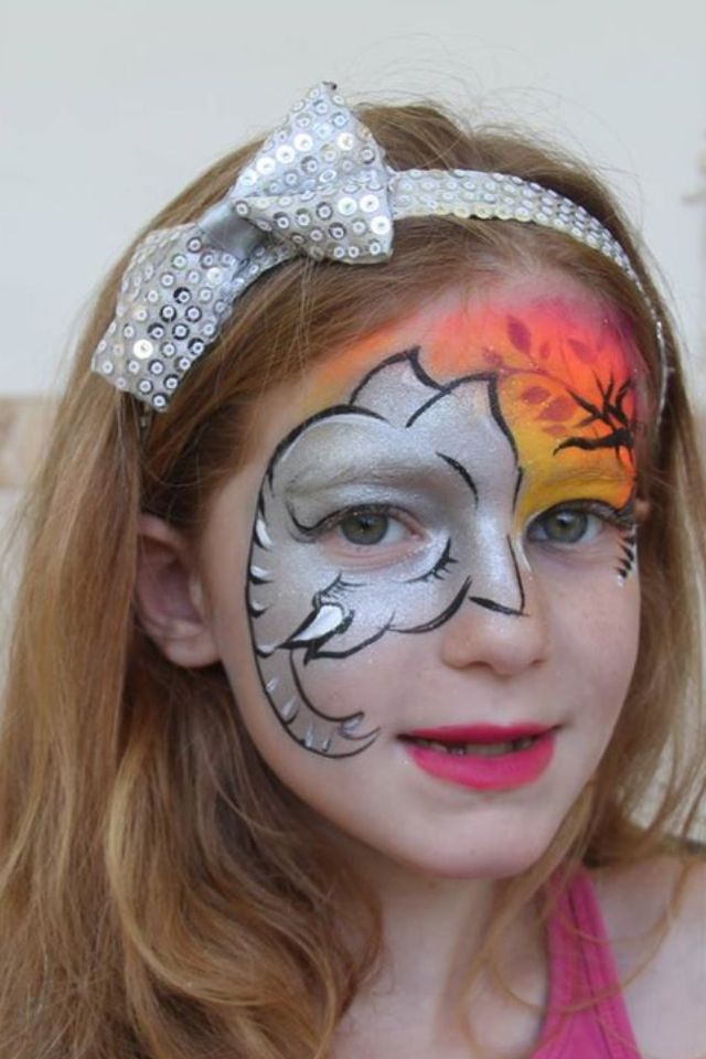 Elephant face paint | Face Painting - Zoo Time | Pinterest ...