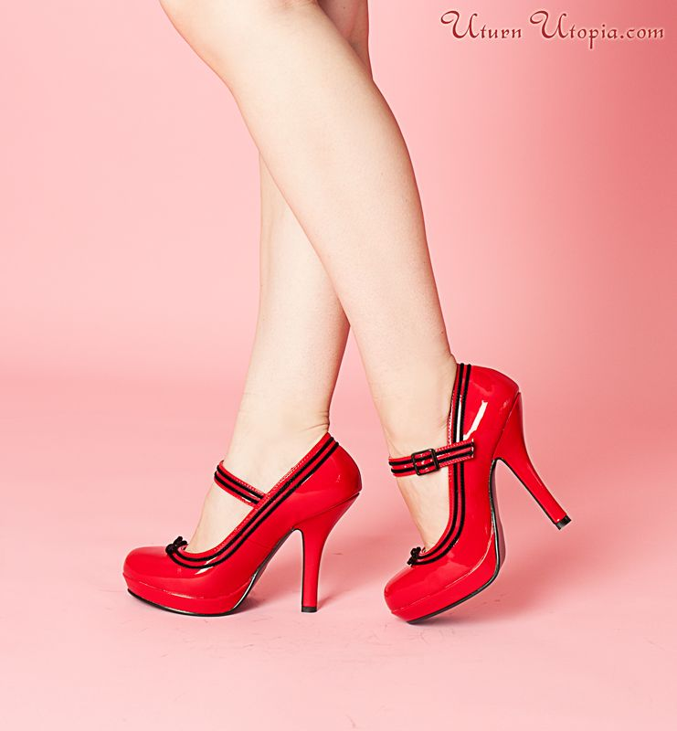 Red Pat Mary Jane Classic Pumps/Pin Up/Rockabilly [SEC15/RPT] - $64.85 : Uturn Utopia, Retro footwear, Rockabilly Shoes, Vintage Inspired Clothing, jewelry, Steampunk