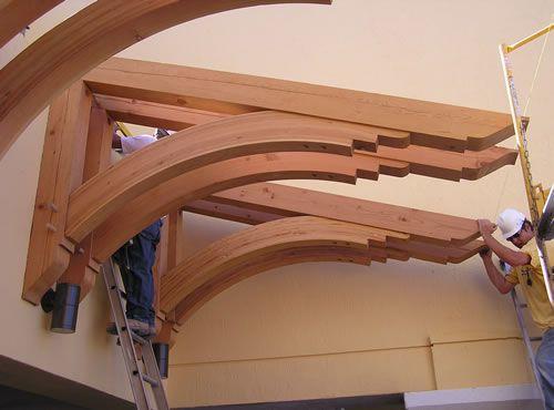 Heavy Timber Craftsman Exterior Wood Wood Garage Doors