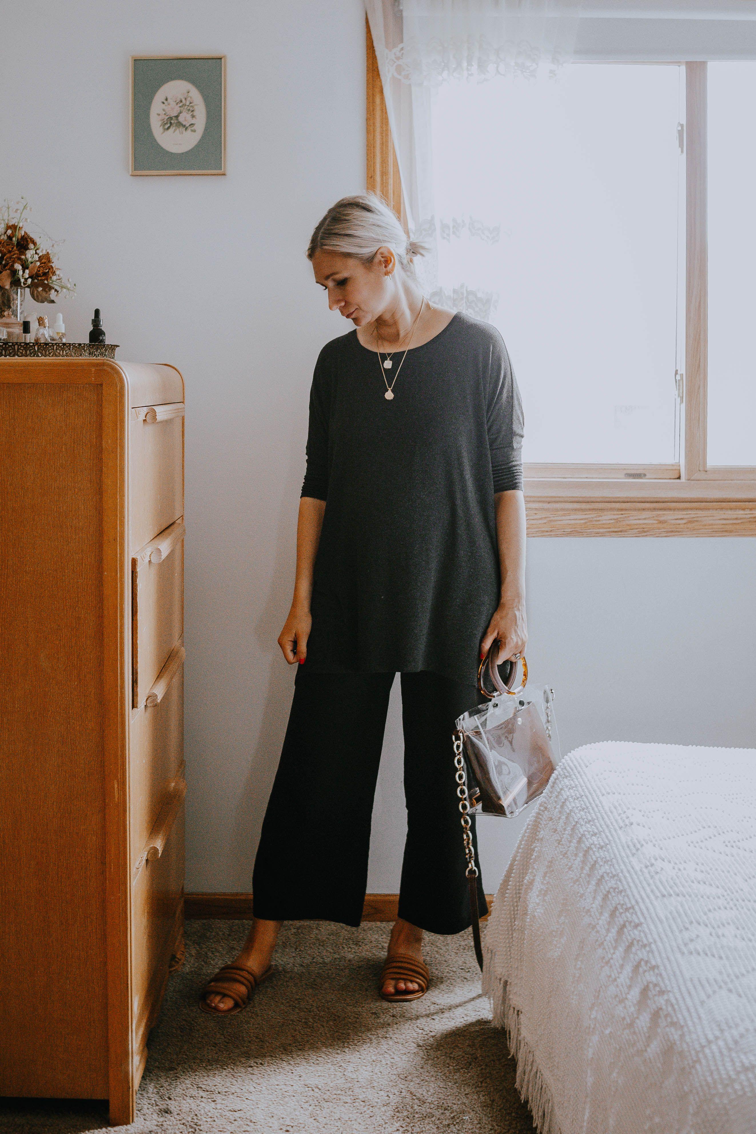 Karin Emily | What I Wore Last Week: wide leg maternity pants
